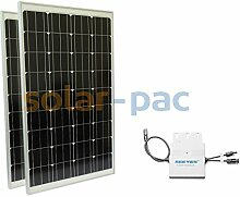 Mini Photovoltaikanlage 200Wp   Plug & Play Hausnetz-Direkteinspeisung Steckdose