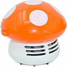 Mini Portable Pilz Stil Schreibtisch Tisch Keyboard Möbel Kissen Ecke Staubsauger Staub Collector Sweeper Orange