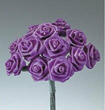 Mini Röschen Bund Ø 15mm lila, lila