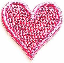 Mini rosa Herz Liebe Romantik Stickerei Cartoon