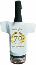 Mini-Shirt Sekt Shirt Sekt Hemd zum 70. Geburtstag in Gold als Geschenkidee