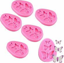 Mini-Silikonformen mit Schmetterlingen, für
