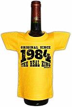 Mini T-Shirt als witzige Geschenkverpackung für Flaschen. - ORIGINAL since 1984 - Tolle Geschenkidee mit Witz.