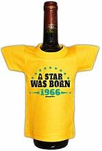 Mini T-Shirt zum Geburtstag - A Star was Born 1966! Die lustige Geschenkidee!