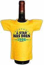 Mini T-Shirt zum Geburtstag - A Star was Born 1986! Die lustige Geschenkidee!