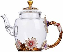 Mini-Teekanne mit Blumenmuster, 295 ml, mit