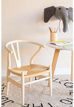 Mini Uish Kinderstuhl aus Holz Vanillegelb Sklum