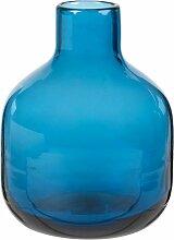 Mini-Vase aus blau getöntem Glas H14