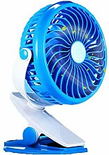 Mini Ventilator Clip USB Tischventilator Leise mit Wiederaufladbare Batterie 360 Drehbare Einstellbare Tragbar Fan für Schreibtisch, Schlafzimmer, Büro, Kinderwagen, Auto und Camping