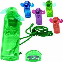 Mini Ventilator in 4 Farben Handventilator Miniventilator Hand Ventilator Umhängeband Lüfter (lila)