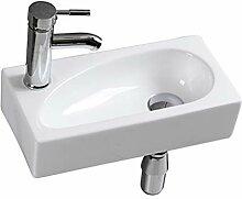Mini Waschbecken WC zur Wandmontage aus Keramik