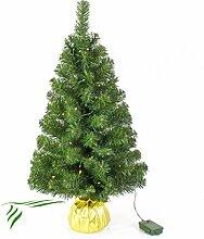 Mini Weihnachtsbaum WARSCHAU mit LED's, gold,