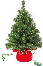 Mini Weihnachtsbaum WARSCHAU mit LED's, rot,