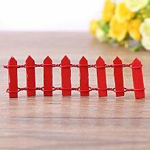 Mini Zaun Garten Barrier Holz Künstliche Miniatur