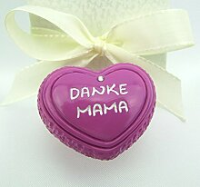Miniatur Deko Herz, DANKE MAMA, als Geschenk-Set,