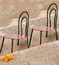 Miniatur Fairy Garden Metall Retro Stühle, 2Stück