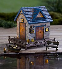 Miniatur Fairy Garden Solar Lake House