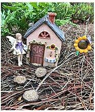 Miniatur Fairy Garden Sunflower Werkstatt und 7-teiliges Zubehör Starter Kit (Bundle) von WFG. Create your own Magical Fairy Garden.