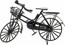 Miniatur Puppenhaus 1:12, nostalgische Accessoires, Fahrrad Damen