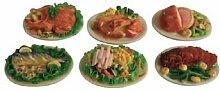 Miniatur Puppenhaus 1:12, nostalgische Accessoires, Platten mit Essen, Preis für ein Stück, Auswahl trifft der Verkäufer