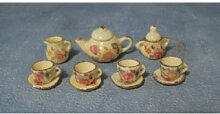 Miniatur Puppenhaus 1:12, nostalgische Accessoires, Service