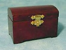 Miniatur Puppenhaus 1:12, nostalgische Accessoires, Truhe
