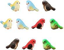 Miniatur-Vogel Deko-Figuren 10 Stück Mini Vogel