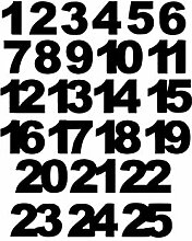 Miniblings Adventskalender Zahlen 24 25 Bügelbild