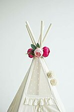 MINICAMP Dekorative Blumengirlande, Tipi-Dekor,