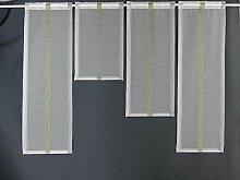 Miniflächen-Set grau grün längs gestreift