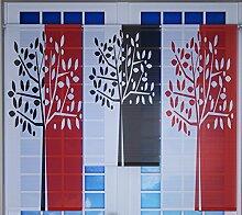Miniflächen-Set rot schwarz weiß mit Baum