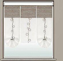 Miniflächen-Set Scheibengardine bestickt mit