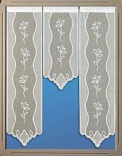 Miniflächen-Set Scheibengardine mit Muster und