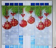 Miniflächen-Set Weihnachtskugeln rot gold