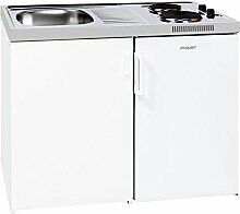 Miniküche Küche Kompakt Klein Küche Küchenblock Exquisit EEK : A+ Kühlraum: 80 L