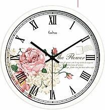 Minimal Art Uhr Tisch/European-style Retro-uhr/Schlafzimmer Ultra Silent Wall Clock-L 14Zoll