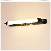 Minimalist Spiegel Vorne Licht LED Lichter Bad WC ( Farbe : Schwarz , größe : 63cm )