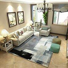 Minimalistische Kunst abstrakte Tinte Wohnzimmer Teppich nordischen rechteckigen Couchtisch Schlafzimmer vollflächige Teppiche , 2 , 160x230cm