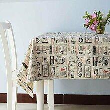 Minimalistische Moderne Couchtisch Tischdecke/Kunst Garten Baumwolle Tischdecke-C 110x170cm(43x67inch)