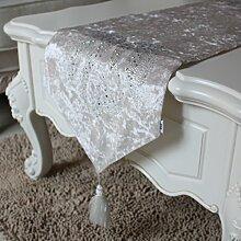 Minimalistische tisch-tuch,Tischläufer,Tee tischdecke,Tv-läufer,Bett-runner-A 30x220cm(12x87inch)