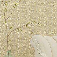 Minimalistischen modernen europäischen Stil Tapete dickes Vlies Tapete3DLast geprägte Wohnzimmer Schlafzimmer,Hellgelb