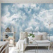 Minimalistisches Wandbild Blauer Himmel Weiße