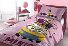 MINIONS Bettwäsche Bettbezug 160x200 Baumwolle