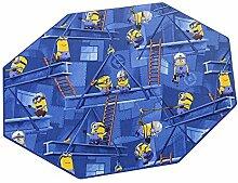 Minions HEVO® Spielteppich | Kinderteppich 200x200 cm Achteck