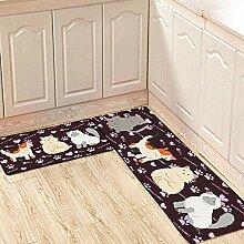 MINIRAH! Küchenteppich Rutschfest Küchenmatte