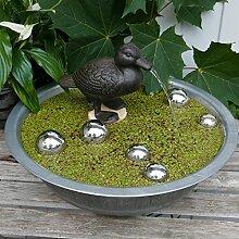 Miniteich Komplett mit Wasserspeier Ente