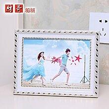 MiniWall Creative foto Tabelle 6 Zoll 7 Zoll 8 Zoll 10 Zoll 12 Zoll 4 Rahmenwand Qiliushi kombinierte europäische Studio 10 Zoll, 25,4 x 20,3 cm Klassisches weißes Gold