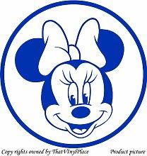Minnie-Maus-Design, 60 cm x 60 cm, Farbe: azur Disney Princess Kinder Zimmer, Schlafzimmer, Aufkleber, Vinyl, Fenster und Wand Aufkleber, Wand Windows-Art Wandaufkleber aus Vinyl, Dekoration, ThatVinylPlace Aufkleber