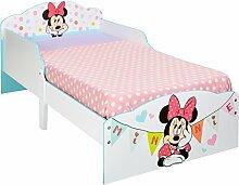 Minnie Mouse 454MTM Kleinkinderbett, Holz, Weiß,