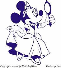 Minnie mouse 60 cm x 45 cm/Farbe: Saphir Blau Disney Princess Kinder Zimmer, Schlafzimmer, Aufkleber, Vinyl, Fenster und Wand Aufkleber, Wand Windows-Art Wandaufkleber aus Vinyl, ThatVinylPlace Aufkleber, Dekoration